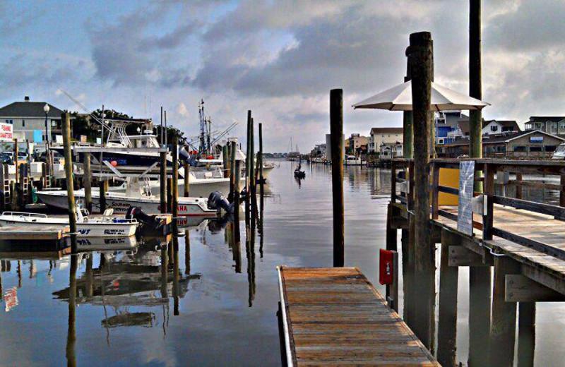 Fishing docks at Surfside Lodge Oceanfront.