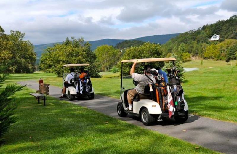 Golfing at Bryce Resort.