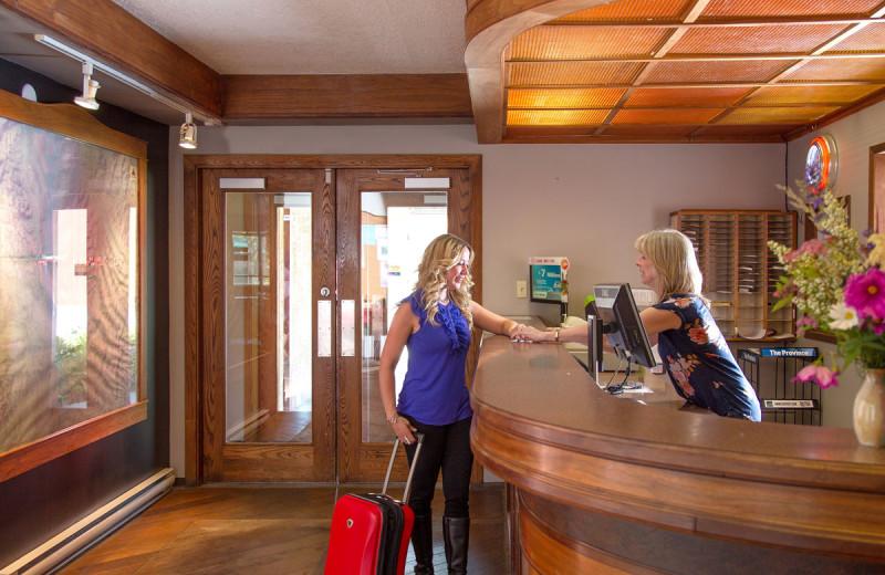 Lobby at The Lodge at Arrow Lakes.