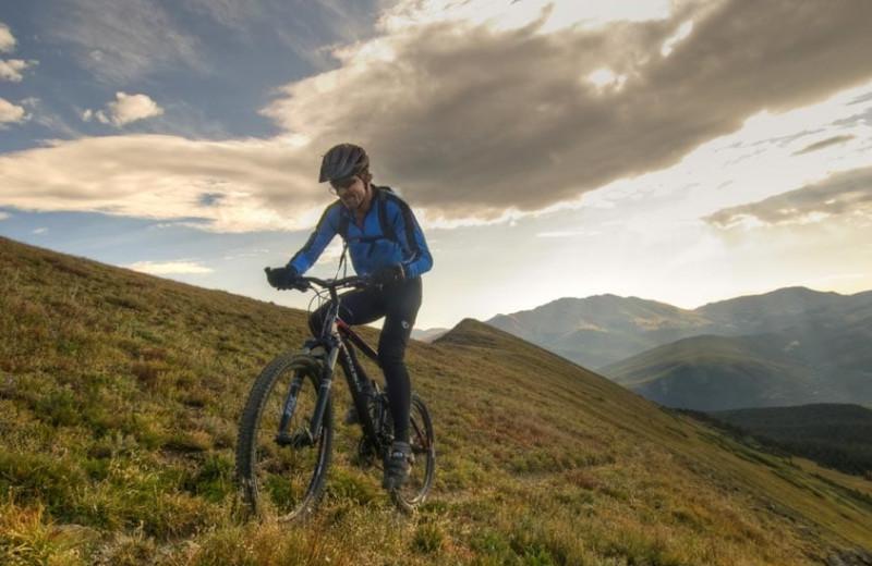Biking at Grand Timber Lodge.