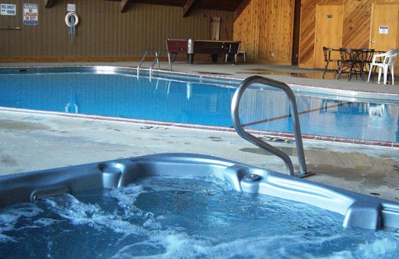 Indoor pool at Sportsman's Lodge.