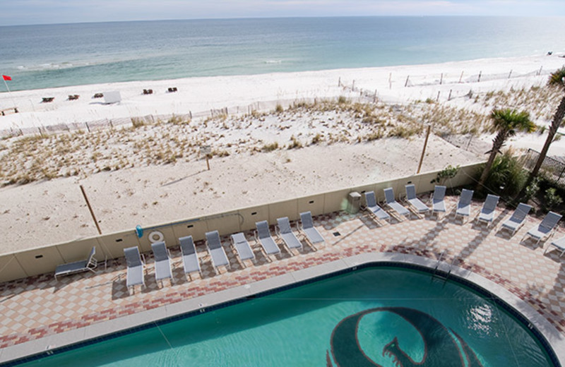 Pool and beach at Brett/Robinson.
