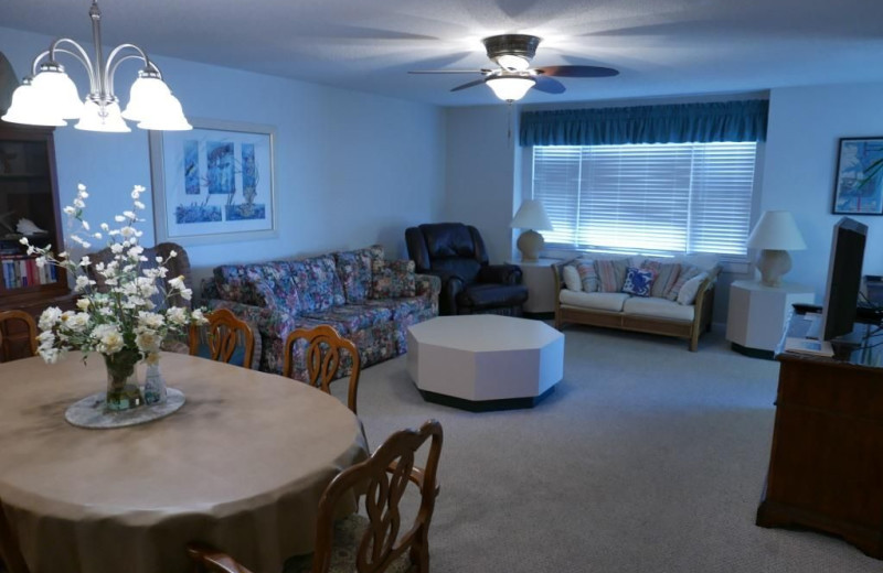 Rental living room at Realty World - First Coast Realty.