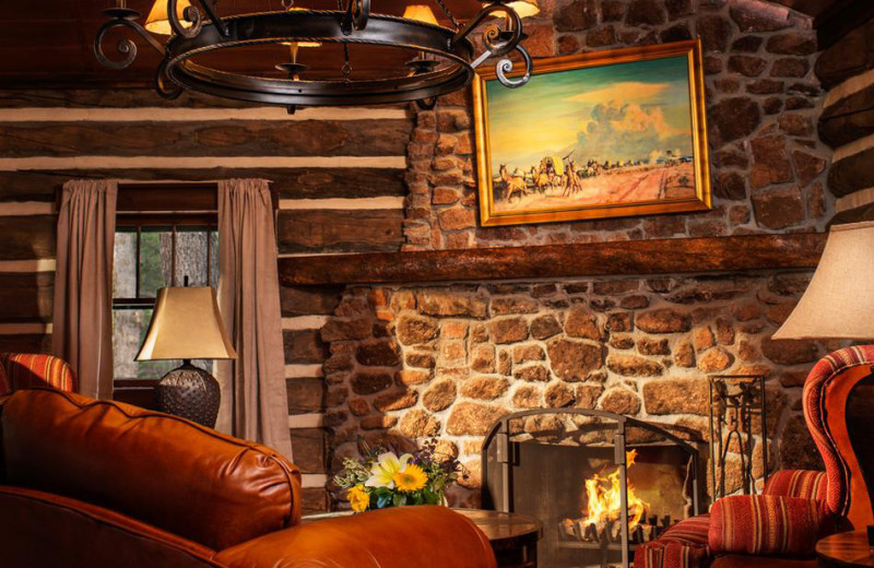 Guest living room at The Ranch at Emerald Valley.