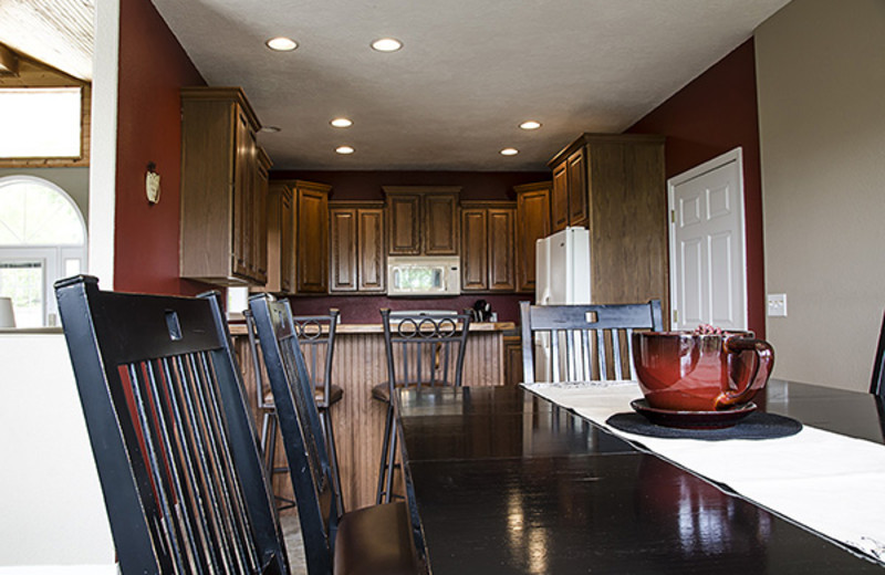 Rental kitchen at Branson Vacation Houses.