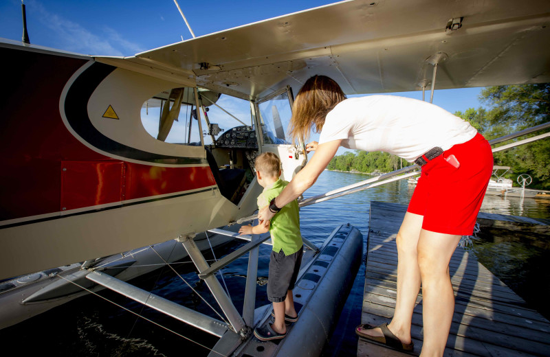 Plane at Elmhirst's Resort.