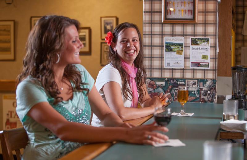 At the bar at Evergreen Resort.