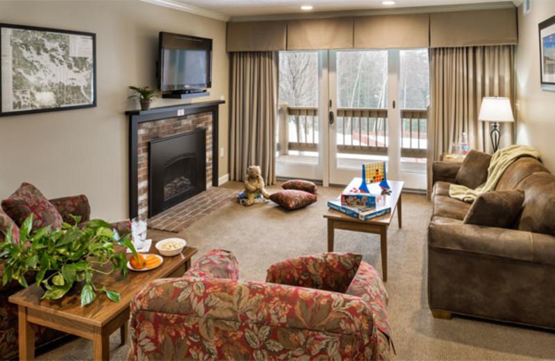 Guest living room at Summit Resort.