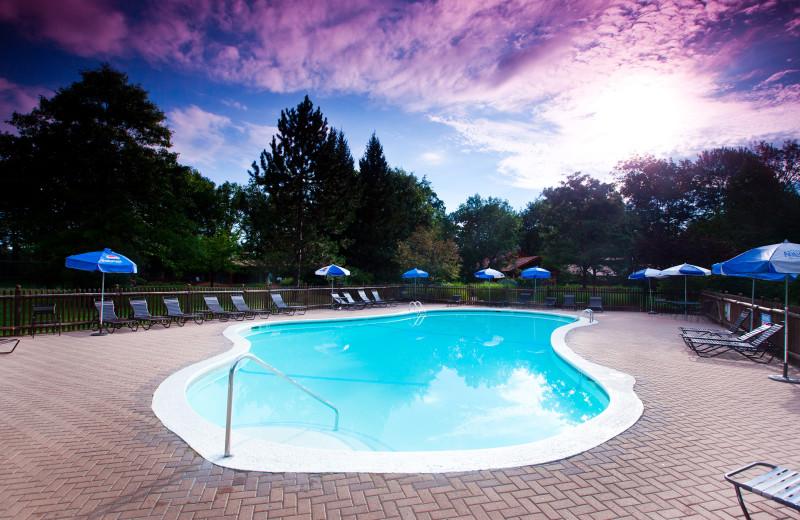 Outdoor pool at  Garland Lodge and Resort.