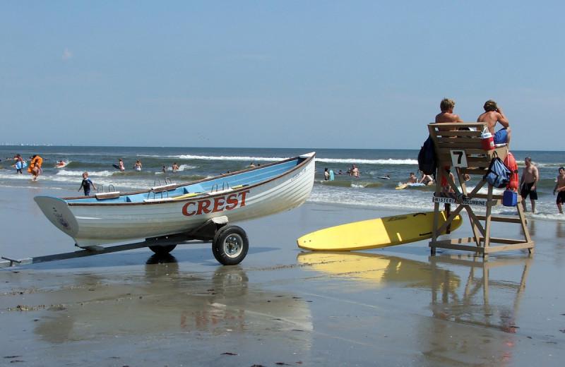 Beach lifeguards at Diamond Crest Motel.