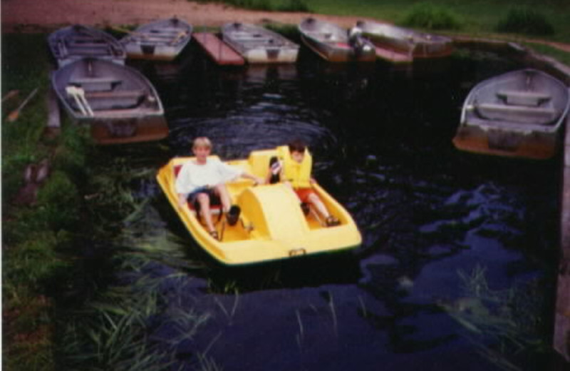 Lake activities at Whispering Pines Resort.