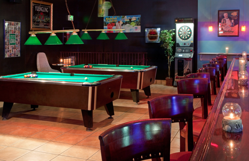 Bar and billiards table at Grand Hotel & Spa.