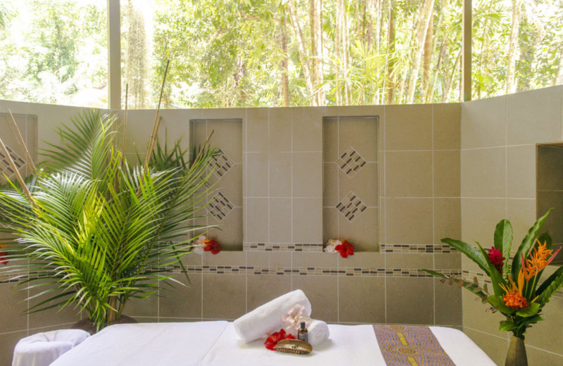 Massage table at Daintree Eco Lodge and Spa.