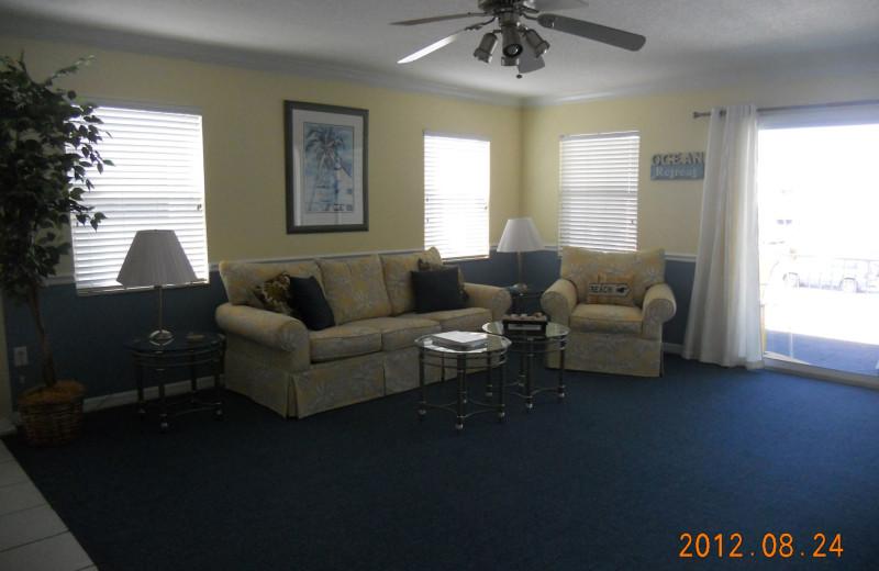 Rental living room at Alecassandra Vacation Villas