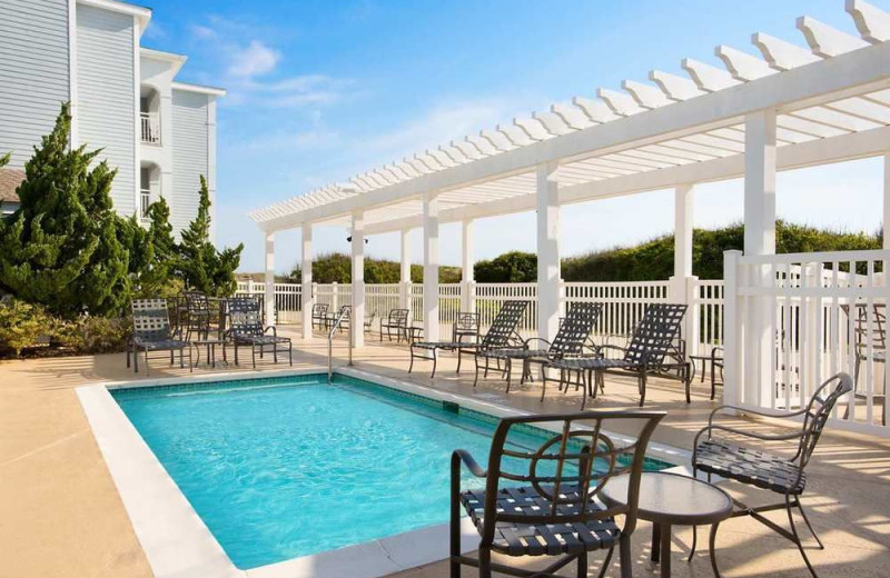 Outdoor pool at Hampton Inn & Suites Outer Banks/Corolla.