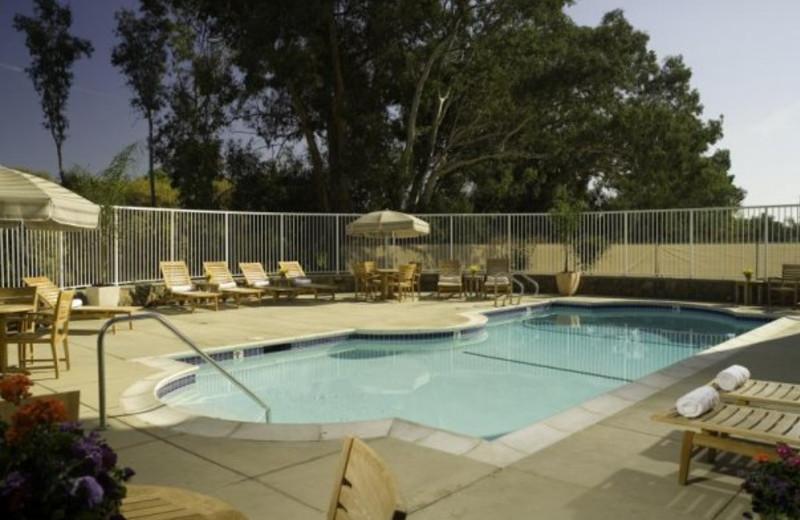 Outdoor pool at River Terrace Inn.