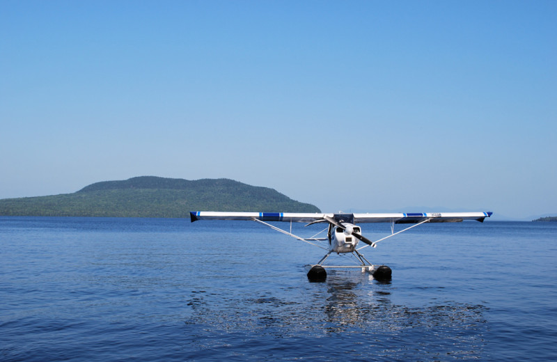 Sea plane at The Birches Resort.