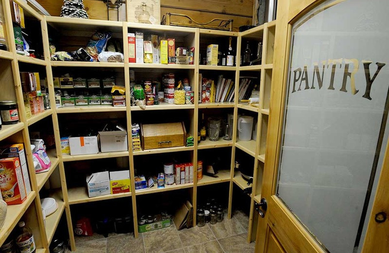 Pantry at The White River Inn.