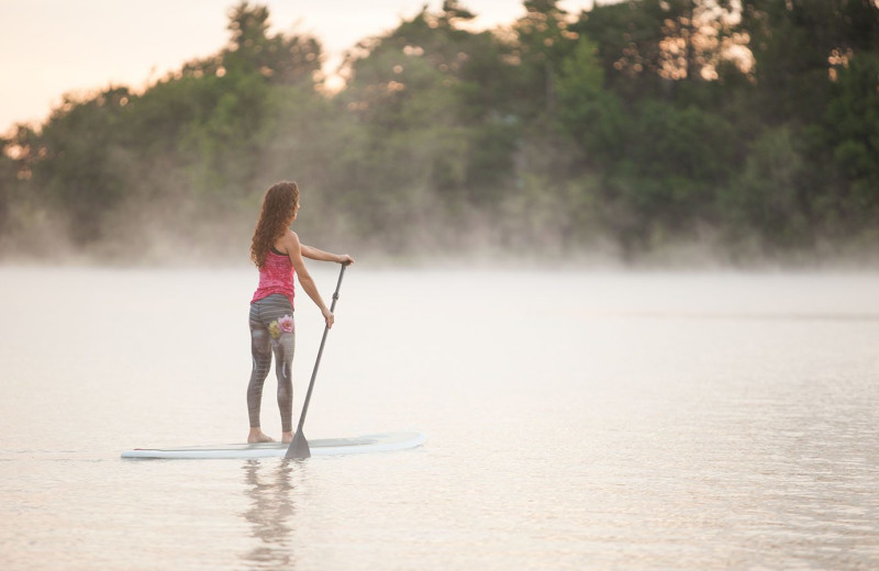 Paddle board at Woodloch Resort.