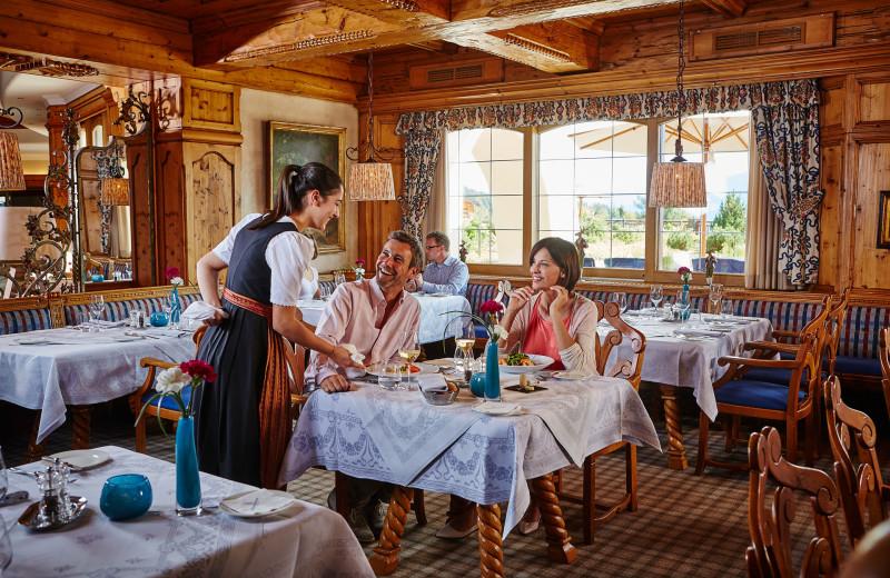 Dining at Interalpen-Hotel Tyrol.