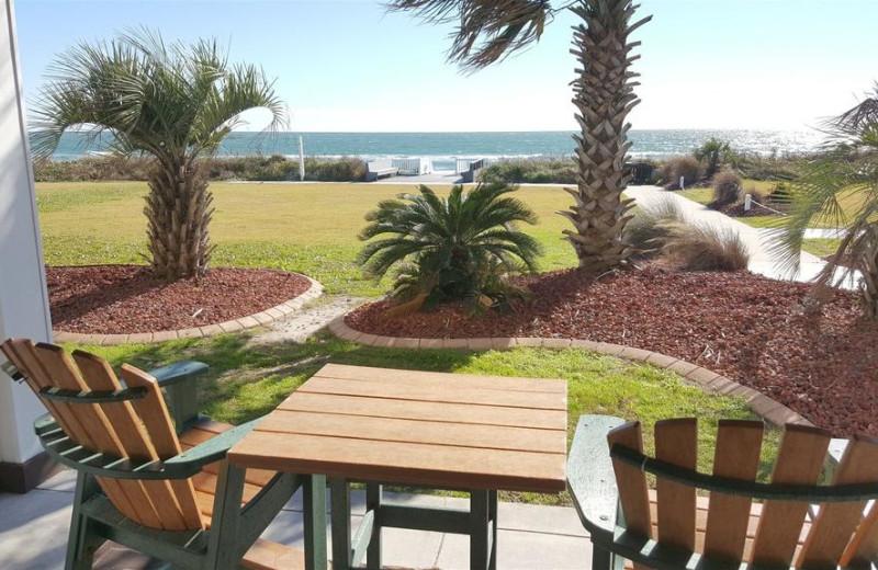 Patio view at Islander Hotel & Resort.
