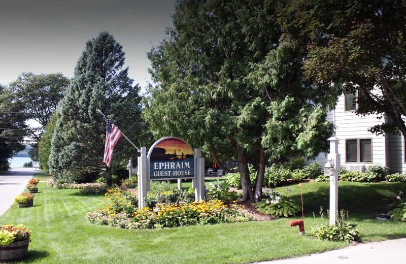 Exterior view of Ephraim Guest House Condominiums.