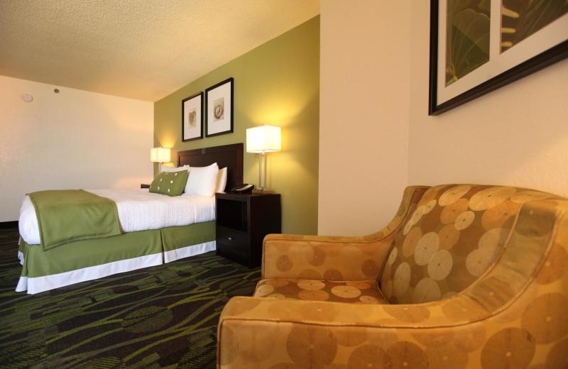 Guest room at Perdido Beach Resort.
