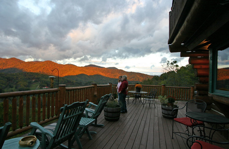Deck at Wildberry Lodge.