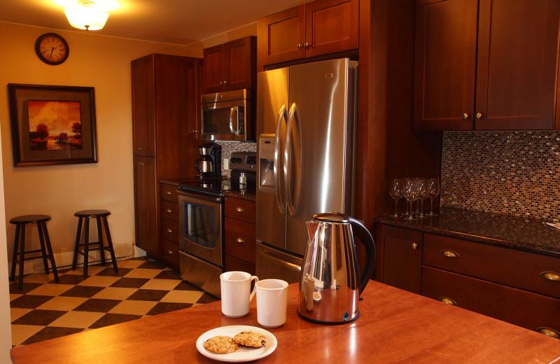 Cabin kitchen at Elkhorn Manor.