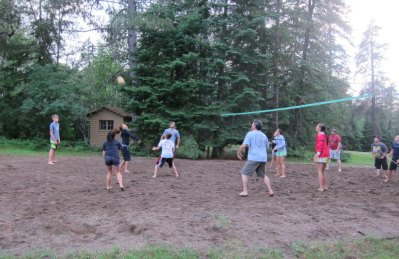 Family volleyball at Timber Bay Lodge & Houseboats.