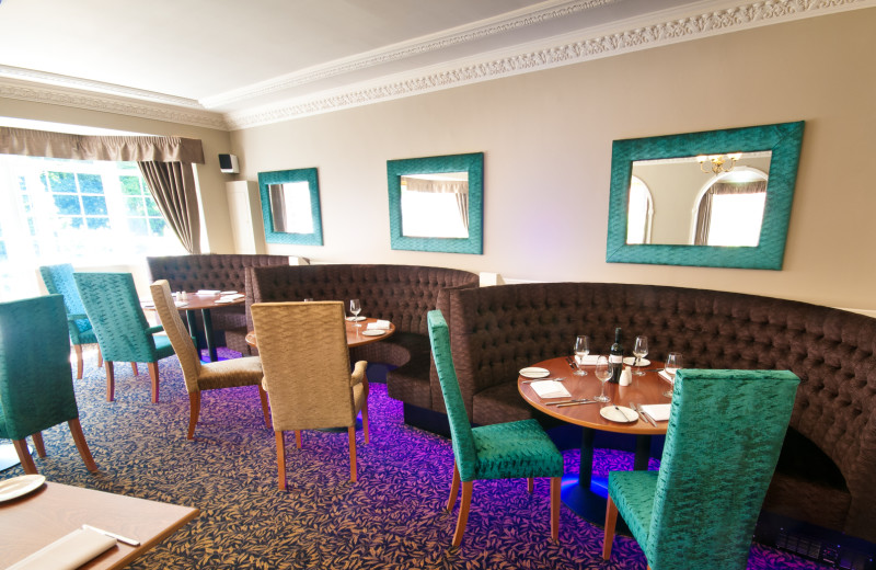 Dining at Oaklands Country House Hotel.