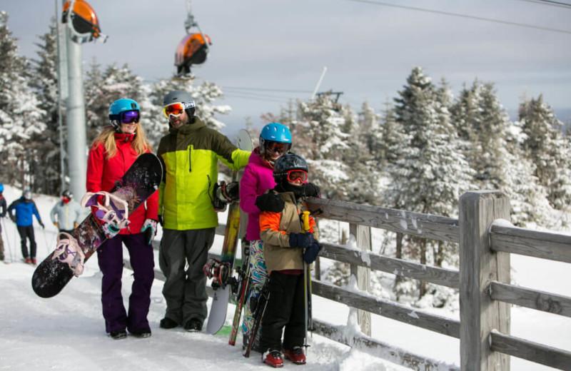 Snowboarding at The Red Clover Inn & Restaurant.