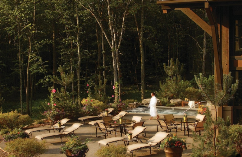 Patio at The Lodge at Woodloch.