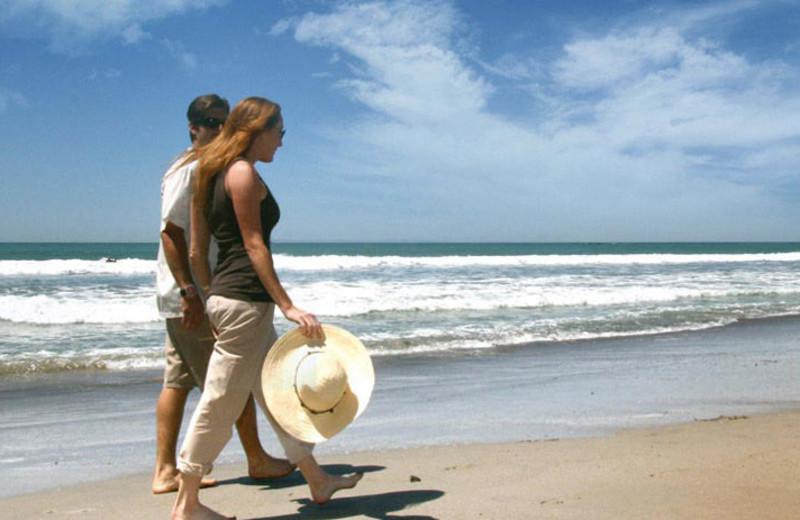 The beach at Casa Tropicana Inn & Spa.