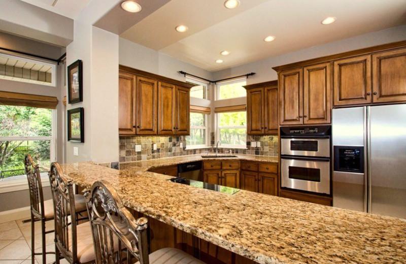 Rental kitchen at Lakeside Resort Properties.