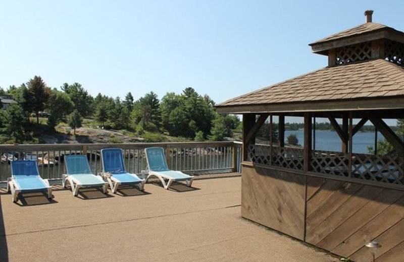 Sun deck at Pleasant Cove Resort.