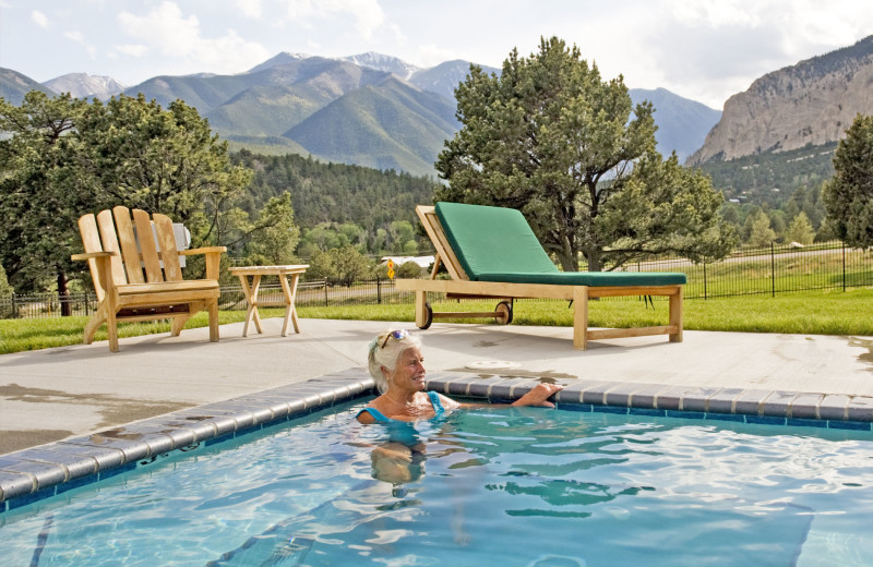 Swimming in the pool at Mt. Princeton Hot Springs Resort.