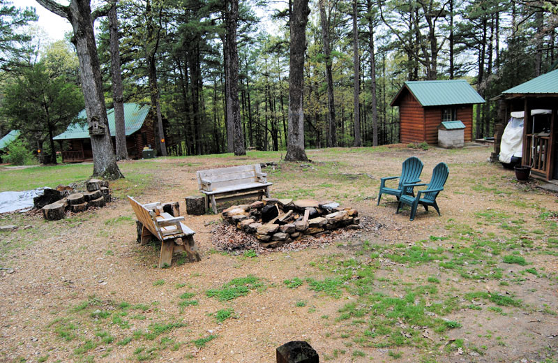 Fire pit at Cabin Fever Resort.