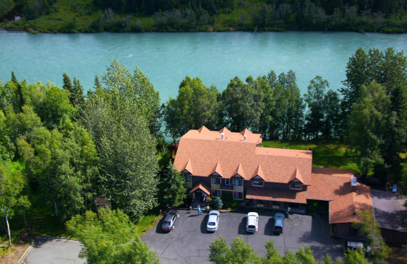 Aerial view of Soldotna B&B Lodge and Alaska Fishing Charters.