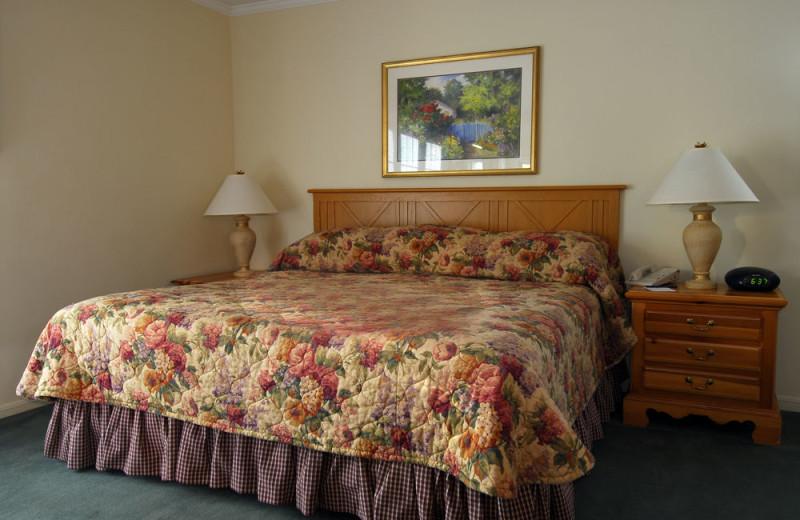 Villa bedroom at The Spa at Norwich Inn.