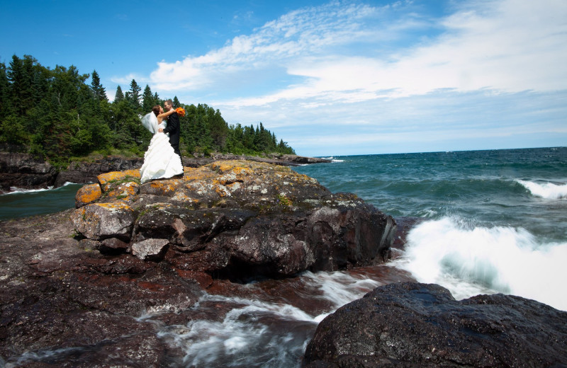 Wedding at Bluefin Bay on Lake Superior.