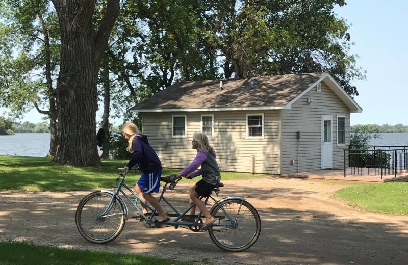 Biking at Barrett Lake Resort.