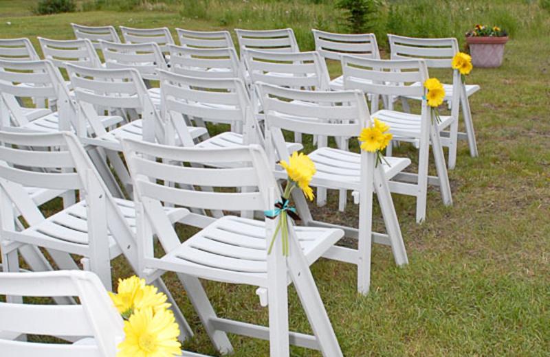 Wedding setup at Majestic Valley Lodge.