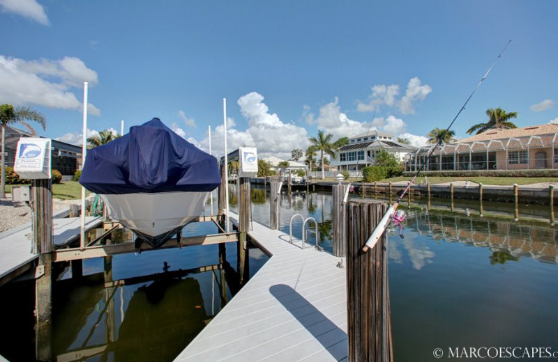 Rental dock at Marco Escapes.