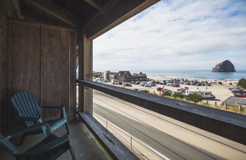 Balcony view at Inn at Cape Kiwanda.