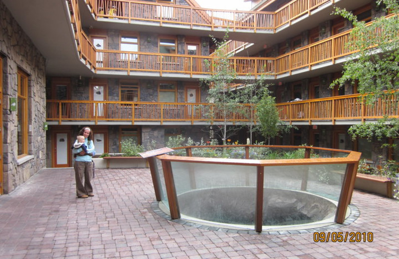 Courtyard at The Fox Hotel.