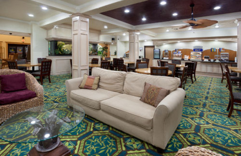 The Lobby at the Holiday Inn Express Hotel and Suites