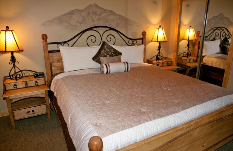 Condo bedroom at Bear Creek Vacation Condos.