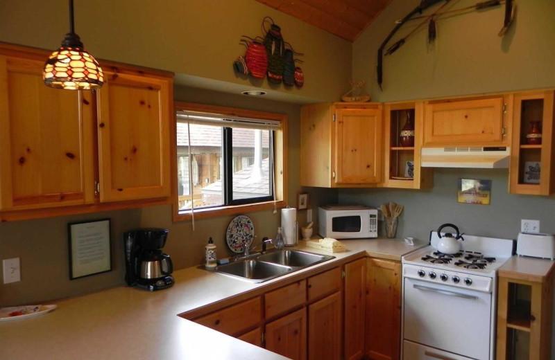 Cabin kitchen at Cold Springs Resort.