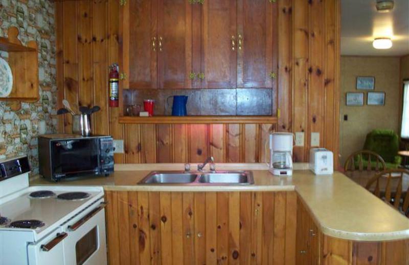Cabin kitchen at Tamarack Resort.
